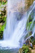 Beautiful waterfall in spring at daylight, forest stream creek,eastern Serbia, Europe