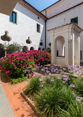 Ravello, Italy - June 16, 2017: Convent of Friars Minor Conventuals S. Francesco in Ravello. Amalfi Coast, Italy
