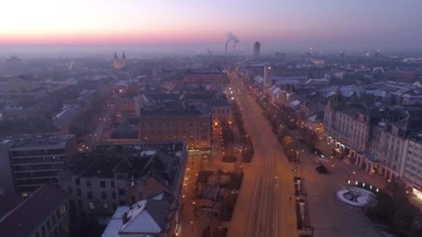 Légi videó a Nagytemplom Debrecen város, Magyarország