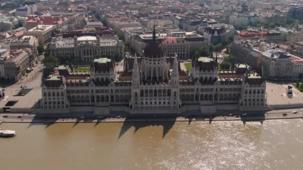 videó a magyar parlamentben és a Duna-parton Budapesten, Magyarországon