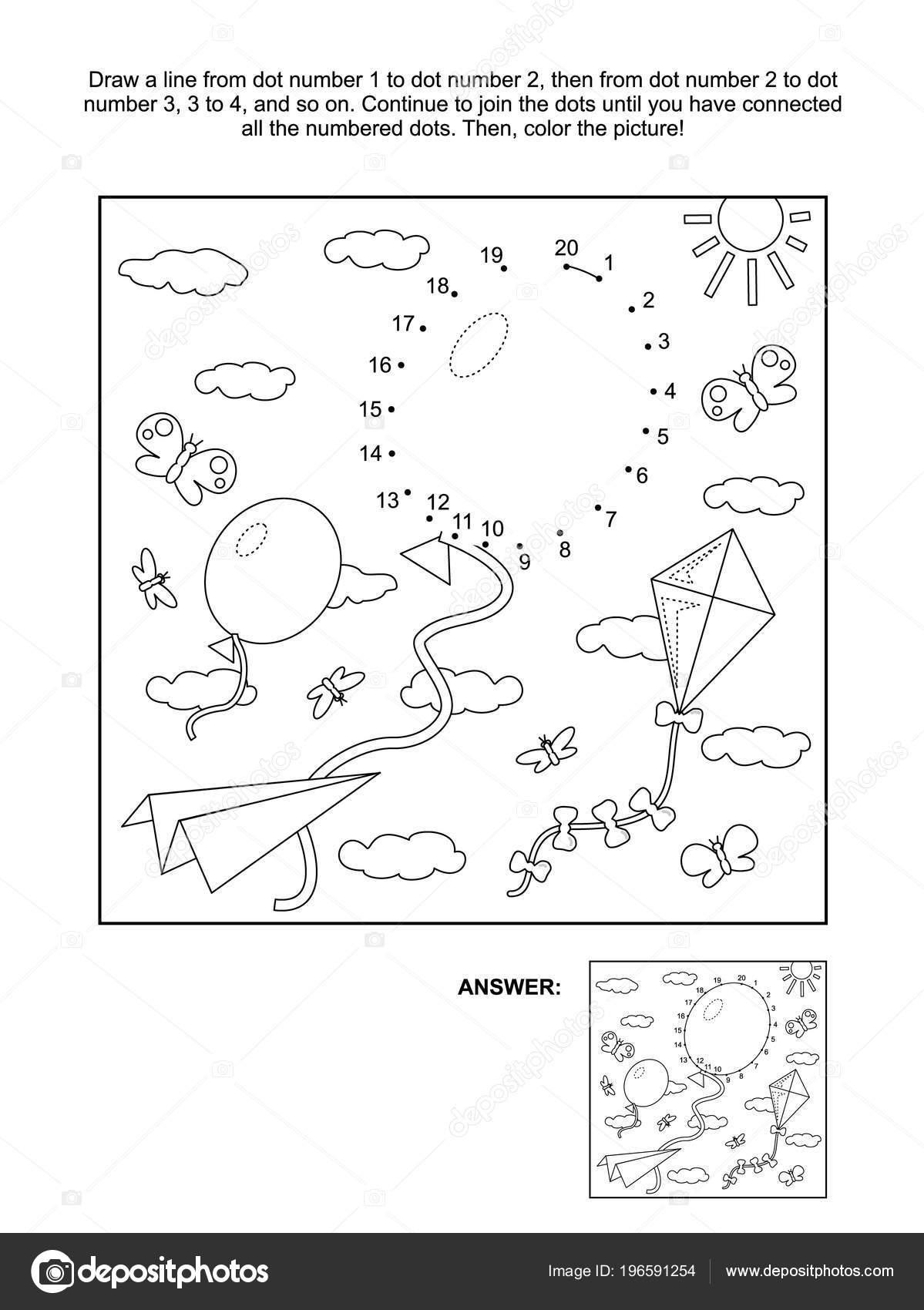 紙飛行機 凧が空を飛んでいるとドット絵パズルやぬりえを接続します