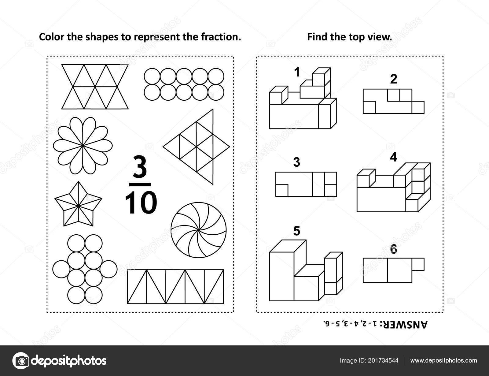 Dos Acertijos Matemáticos Visuales Páginas Para Colorear Color Las ...