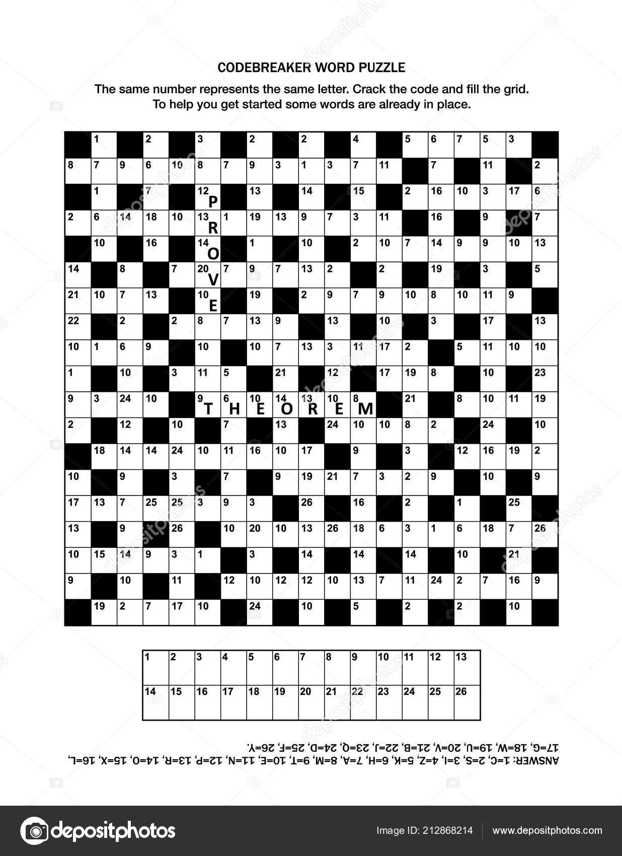 Puzzle Page Codebreaker Codeword Code Cracker Word Game Crossword