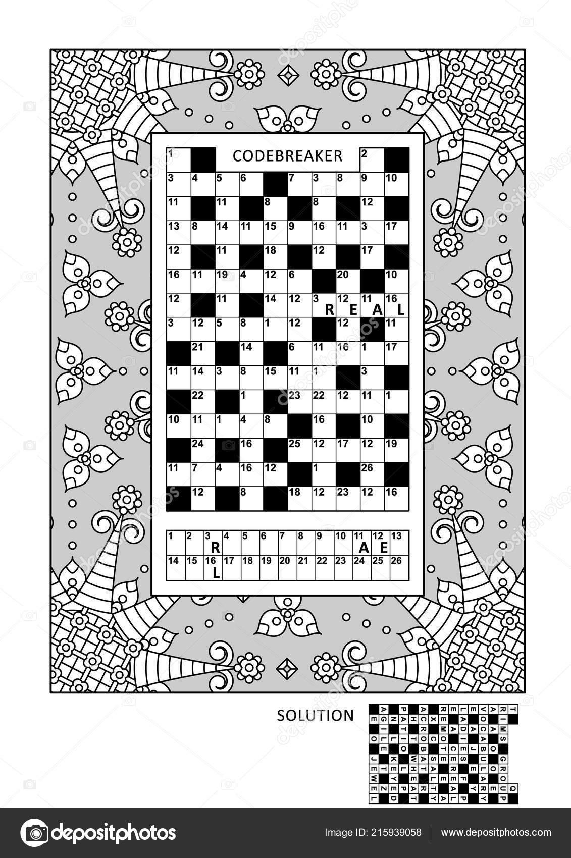 Puzzle Und Coloring Seite Aktivitäten Für Erwachsene Mit ...