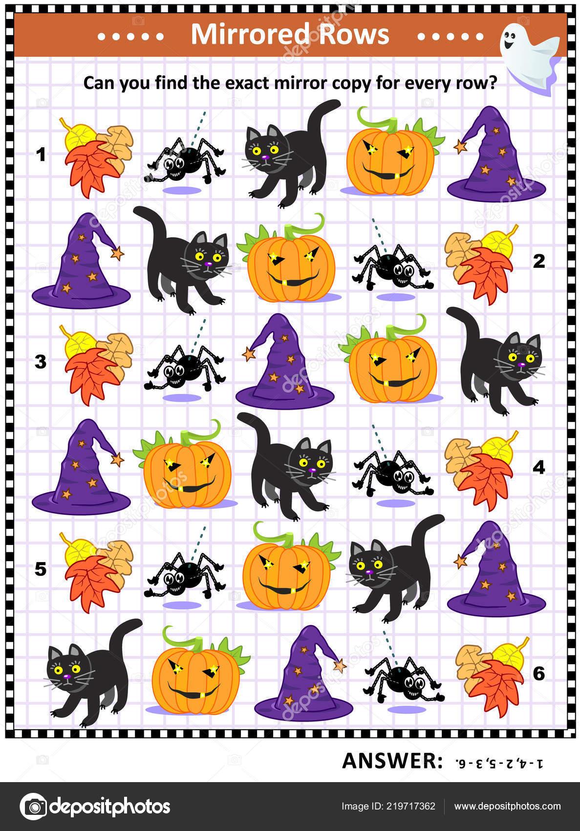 Raadsels Halloween.Halloween Festival Opleiding Visuele Raadsel Themed Overeen