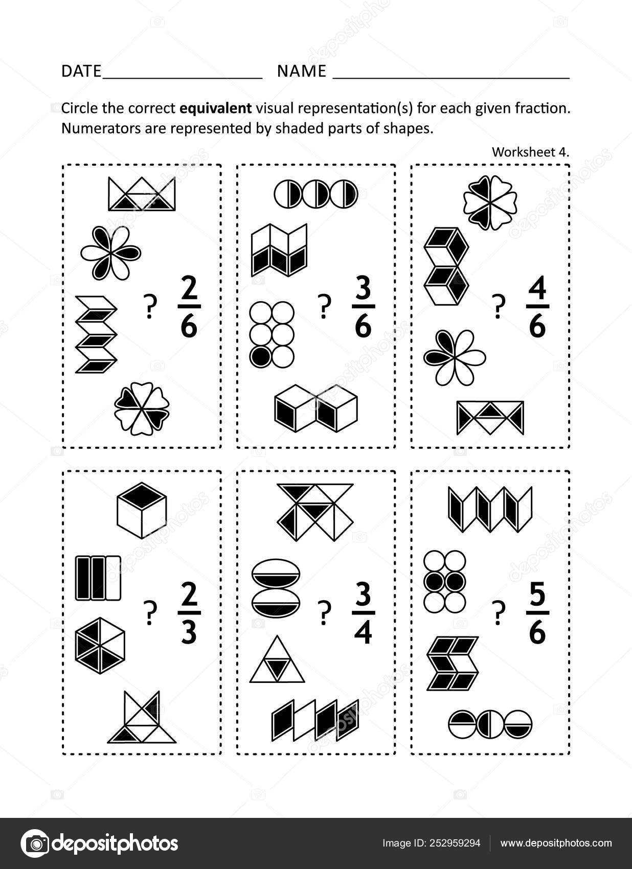 36 Equivalent Fractions Vectors Royalty Free Vector Equivalent Fractions Images Depositphotos [ 1700 x 1236 Pixel ]