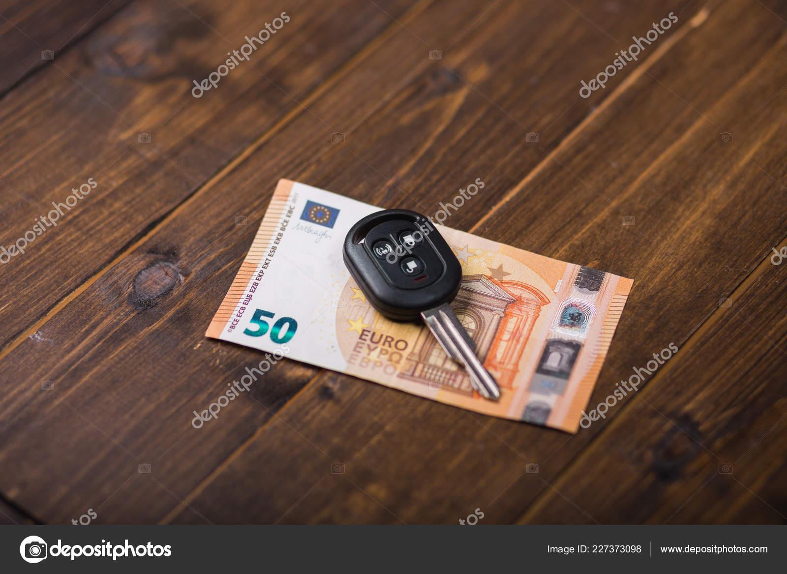 Fifty Euros Banknote And Car Keys Stock Photo C Shigapov 227373098