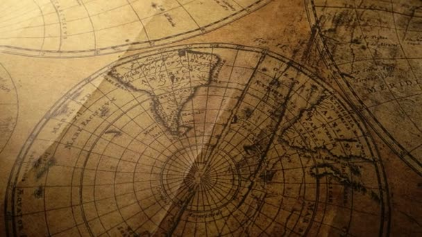 Zblízka vintage staré mapy