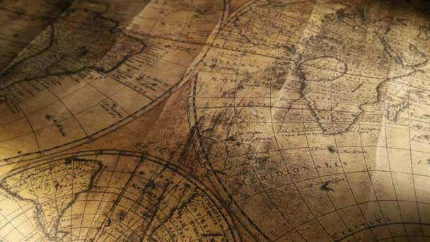 Close up of a vintage old map