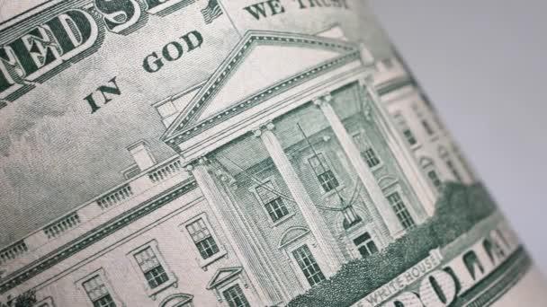 Zavřít záběry amerického dolaru
