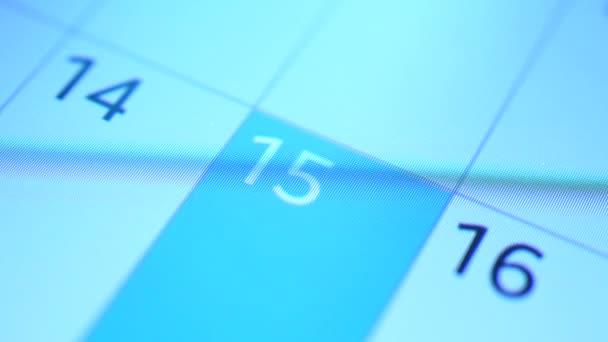 detail stránky kalendáře