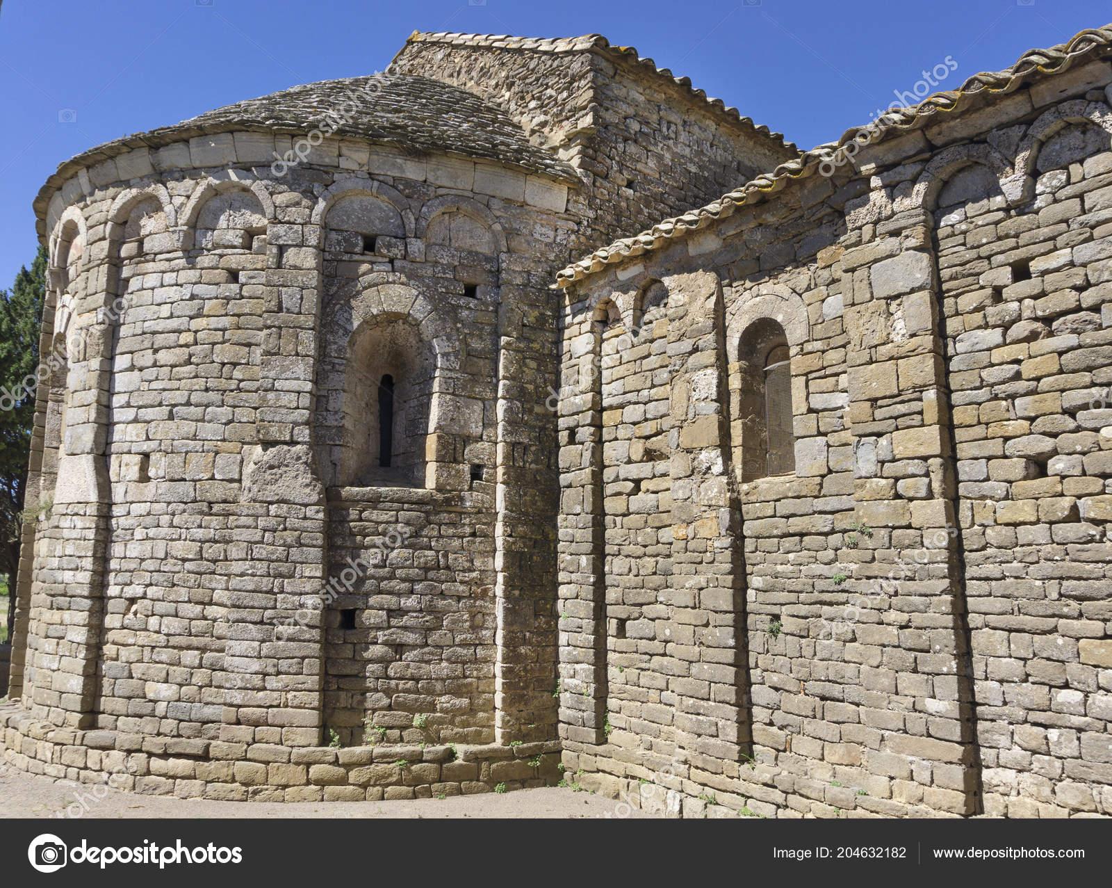 Notre Dame Colombier Romanesque Architecture Aude France