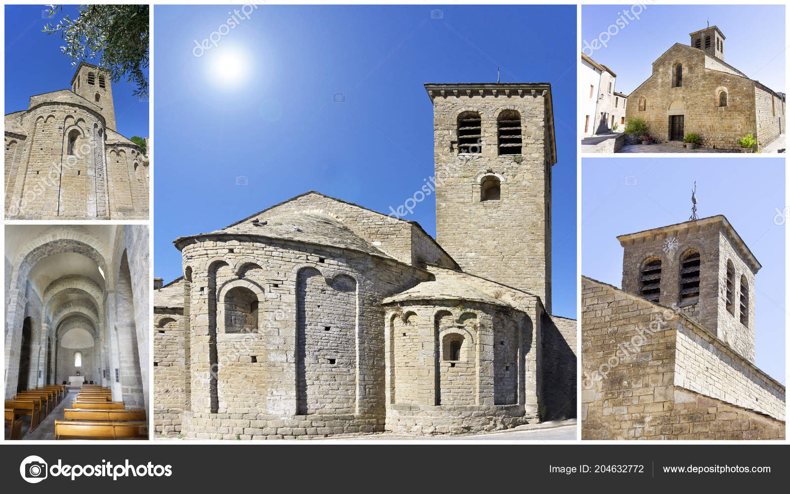 Church Escales Romanesque Architecture Aude France Stock