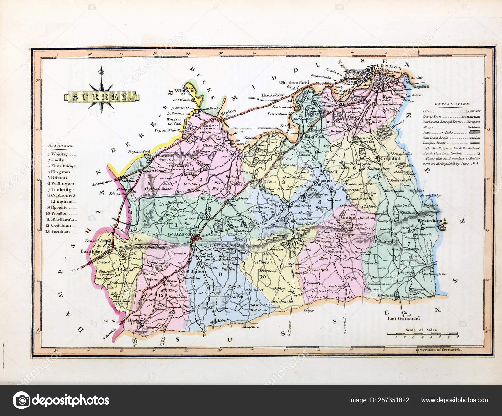 Map Of England 1600.Map England Wales Stock Photo C Ruskpp 257351822