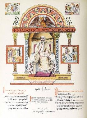 "Картина, постер, плакат, фотообои ""Христианская книга. Старое изображение"", артикул 272260522"