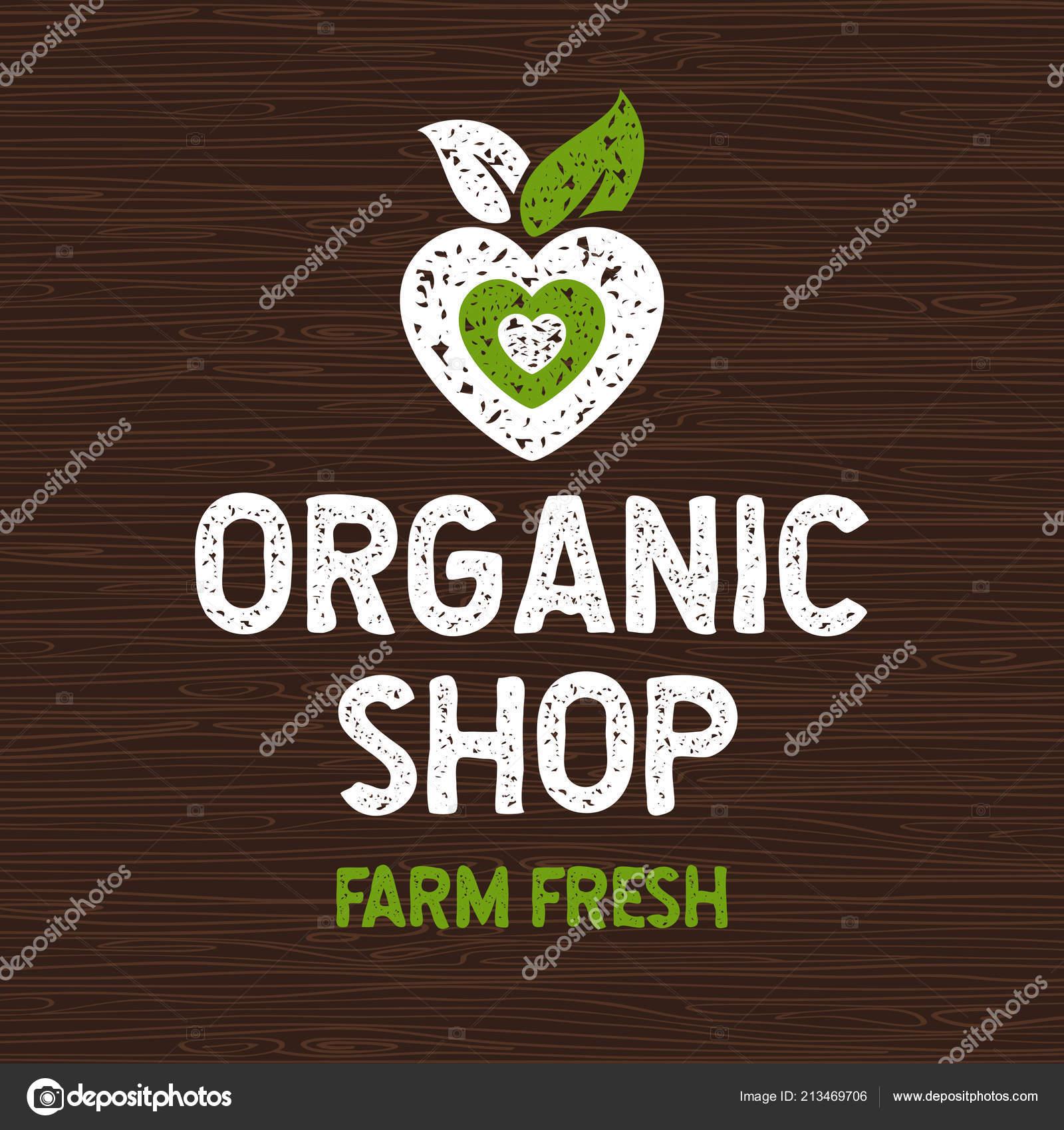Organic Shop Logo Farm Fresh Food Label Cutting Board Rays Wood Elements Emblem For Eco Shop Restaurants Organic Products Stock Vector Vector Image By C Iraida Bearlala Vector Stock 213469706