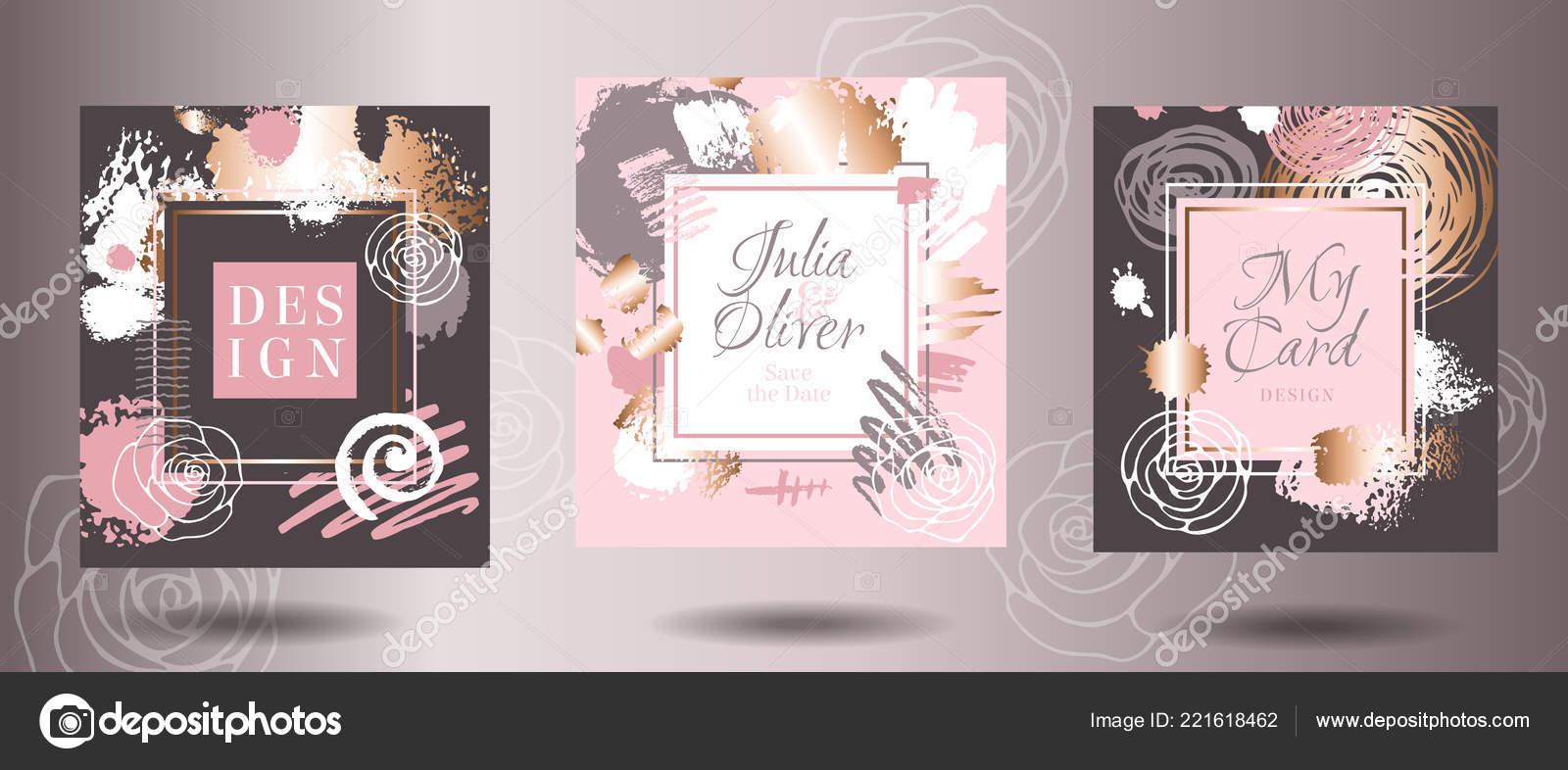 Rahmen Gold Rosebürste Striche Karte Kunst Visitenkarten