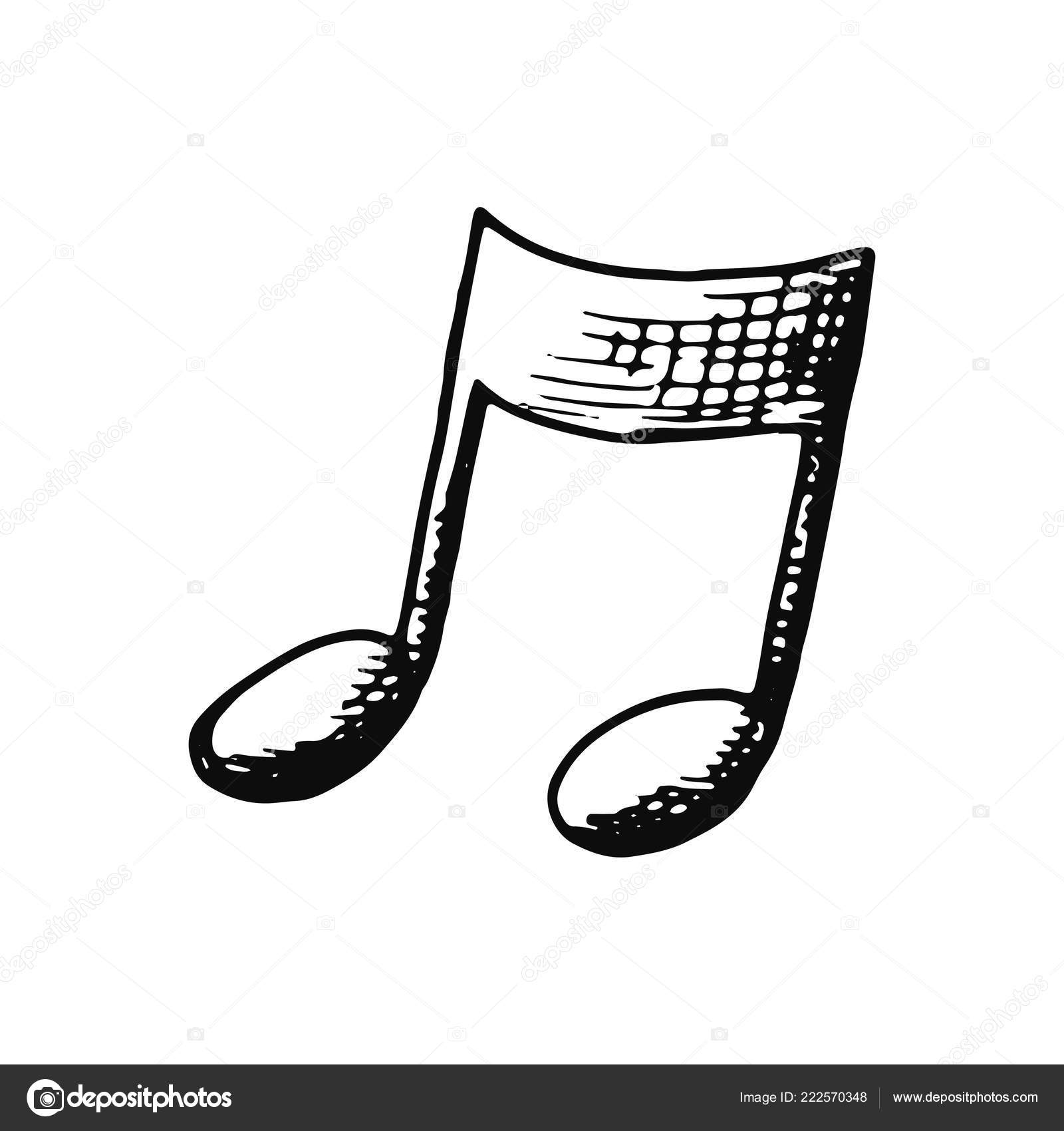 Musical Note Sketch Icon Isolated Stock Vector C Abree 222570348