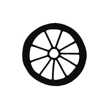 car wheel silhouette vector. isolated object.
