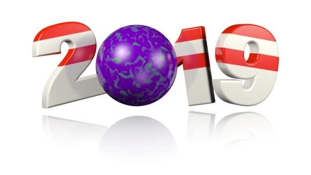 Bowlingové koule 2019 design v nekonečné rotace na bílém pozadí