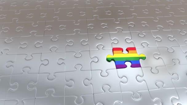 Zvětšování Rainbow Puzzle jednodílné které uniknout z mnoha kusů Gray