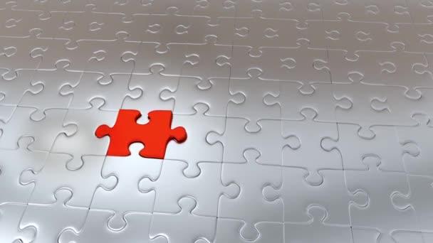 Zvětšování červená Puzzle jednodílné které uniknout z mnoha kusů Gray