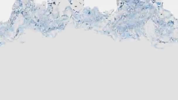 White Fluid filling up the screen in slow motion with lots of swirl and bubble on a White Background