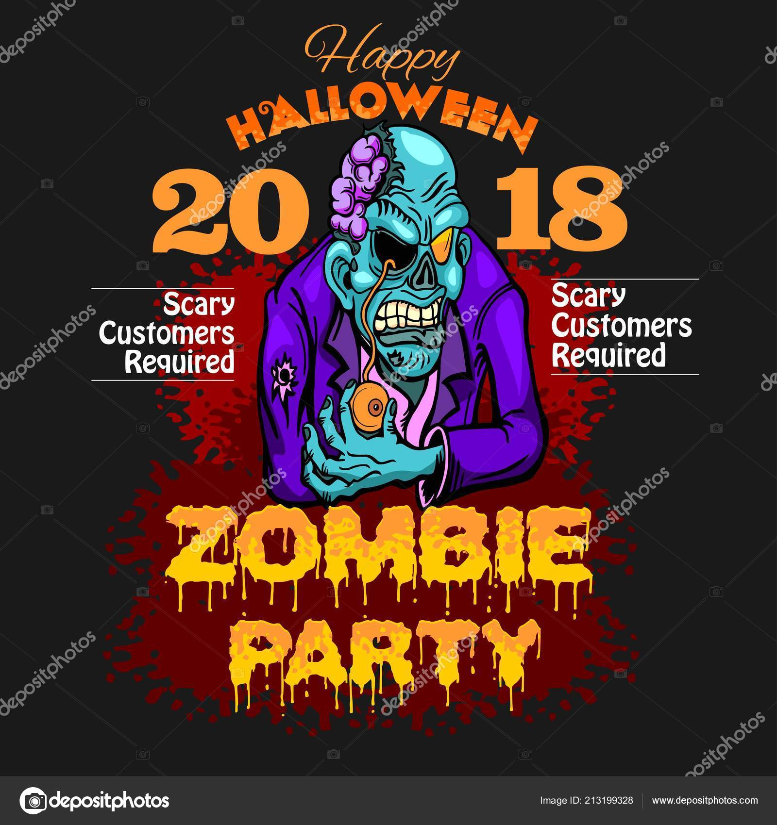 halloween party design template stock vector digital clipart