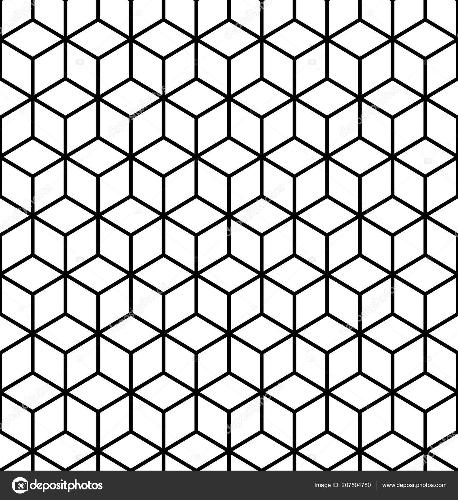 geometric pattern cube seamless pattern geometric line background