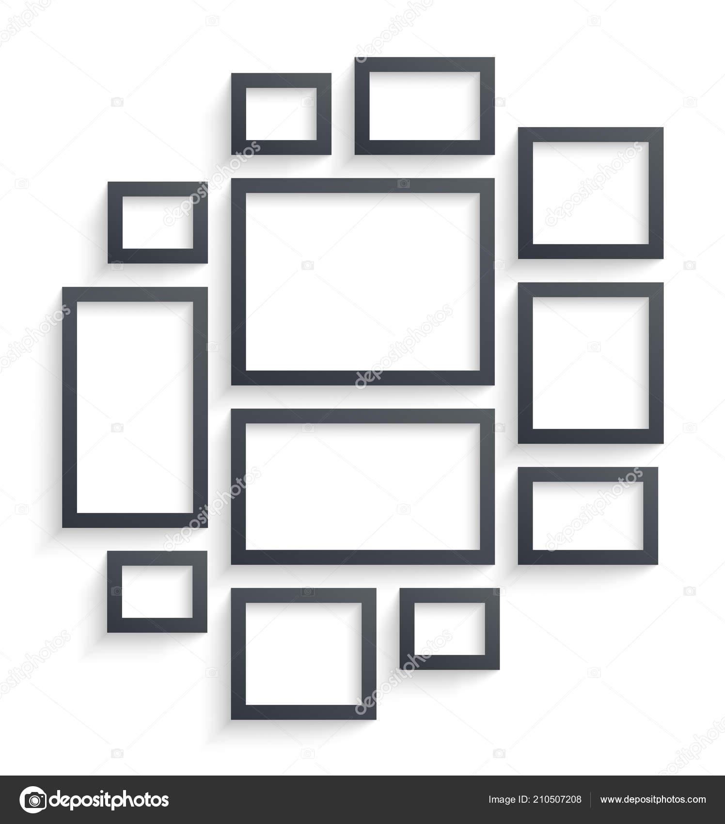 Wand Bild Frame Vorlagen Isoliert Auf Weißem Hintergrund Leere