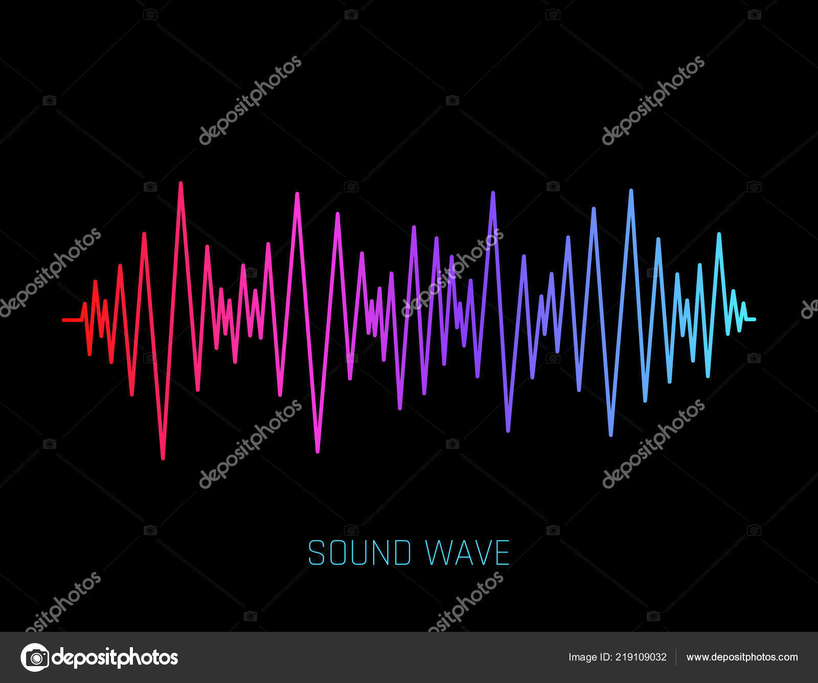 Vector Sound Wave  Colorful sound waves for party, DJ, pub, clubs