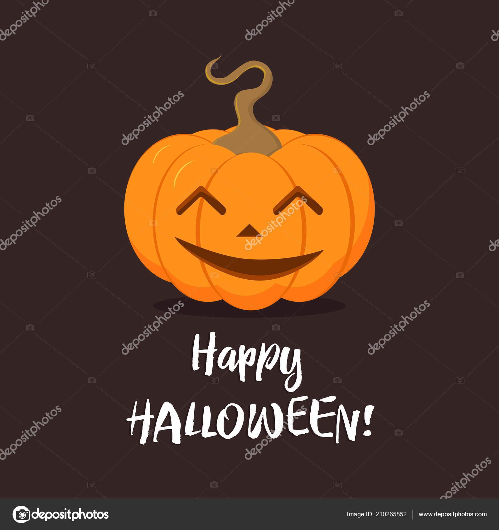 Mignon Citrouille Pour Fête Halloween Dessin Animé Légume