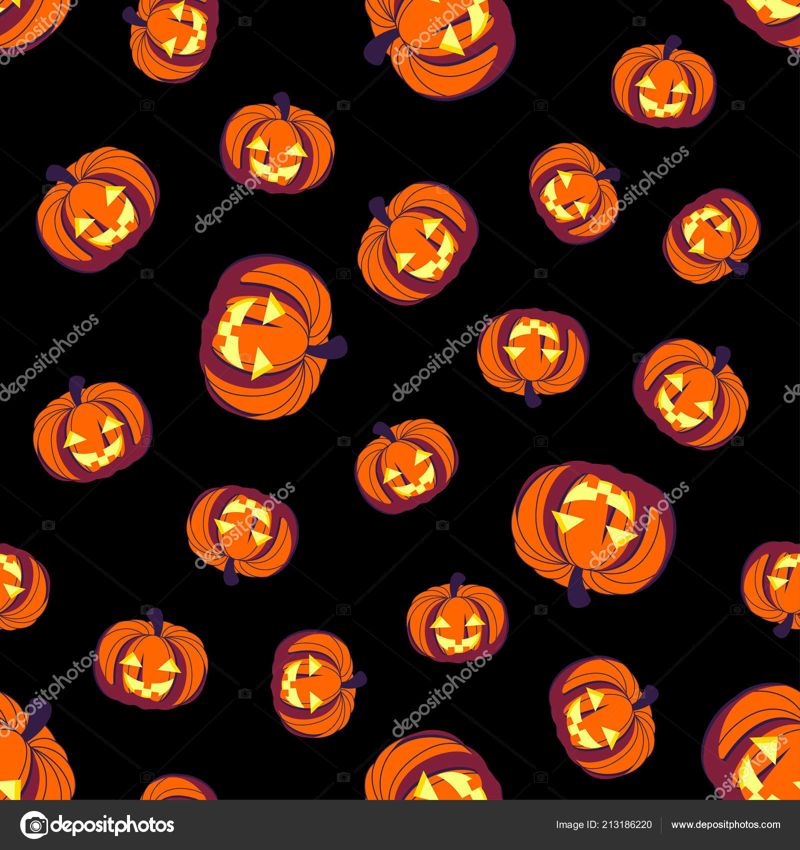 Sin Fisuras Patron Halloween Con Calabazas Fondo Del Arca Cabezas - Calabazas-animadas
