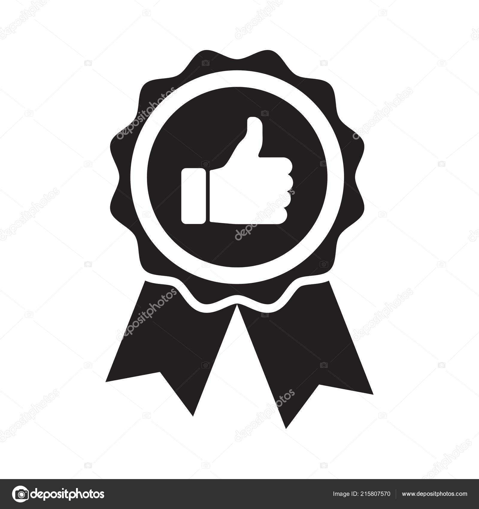 Premium Quality Product Badge Thumb Icon Vector