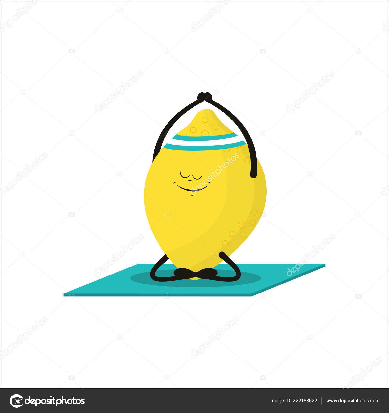 Images Funny Cartoon Exercise Cute Lemon Doing Yoga Exercise Funny Cartoon Fruit Character Isolated Stock Vector C Makc76 222168622