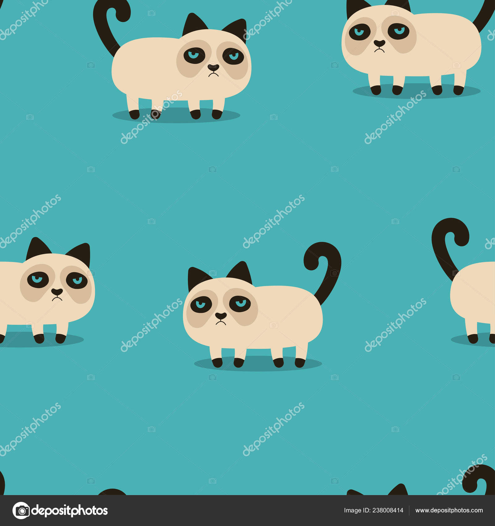 Pictures Sad Cat Wallpaper Pattern Grumpy Cartoon Cat