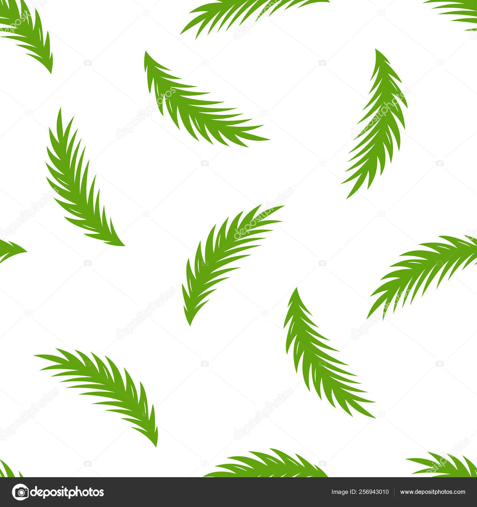 Cartoon Palm Leaf Pattern векторное изображение Makc76