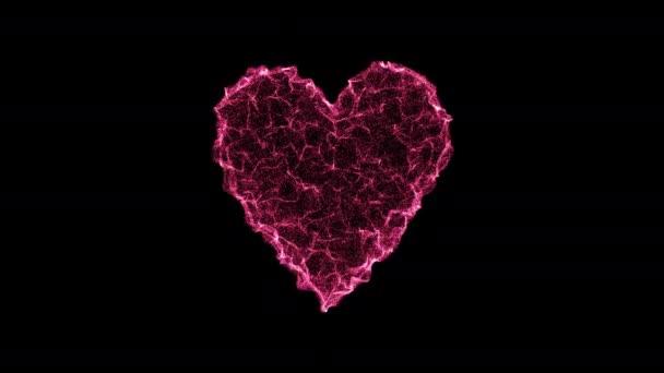 Vlnitý povrch ve tvaru srdce