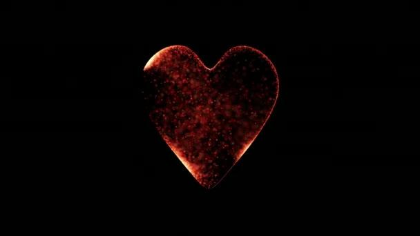 částice náhodně vyplnit tvar srdce