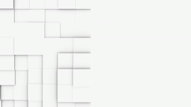 abstraktní hranaté geometrické povrchu, světle zářivě čisté minimální krychlových vzorek mřížky, náhodné, mávající pohyb pozadí plátno v čisté zdi architektonické bílá