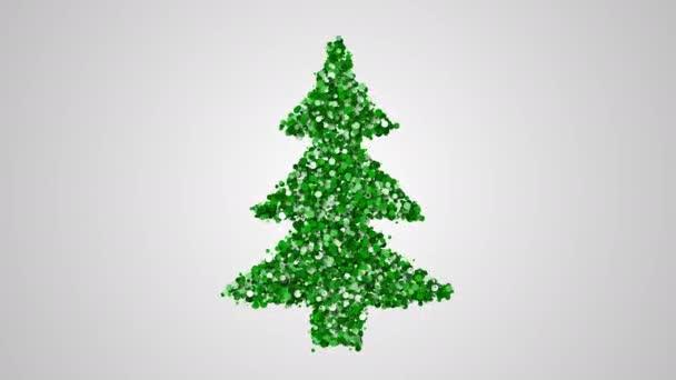 Vánoční strom přání animace