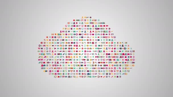 Cloud computing-Konzept-animation