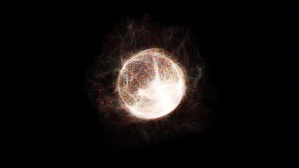 Explosion with particles around sphere