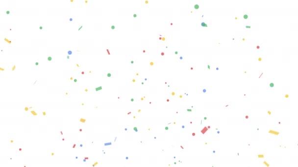 Barevná konfety-Popper exploze na zelených pozadí