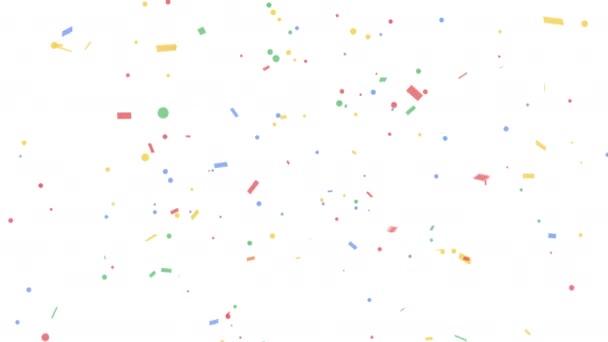 Barevná konfety-Popper exploze na bílých pozadí