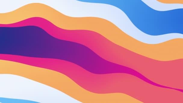 abstraktní barevná vlnitá přechodová animace s posunutými vrstvami