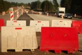 Výstavba silnic moderní betonové vysokorychlostní dálnice.