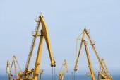 Fotografia Giallo gru industriale nel porto
