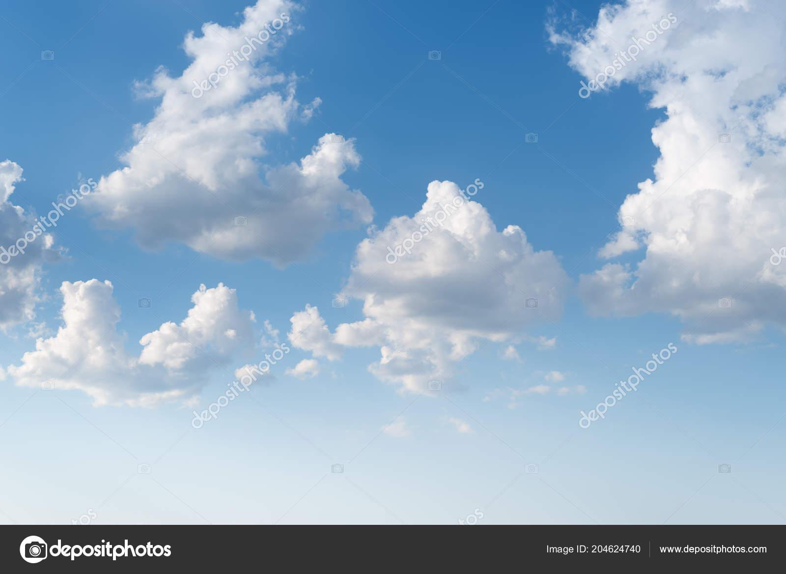white cumulus clouds blue sky heaven collage ストック写真