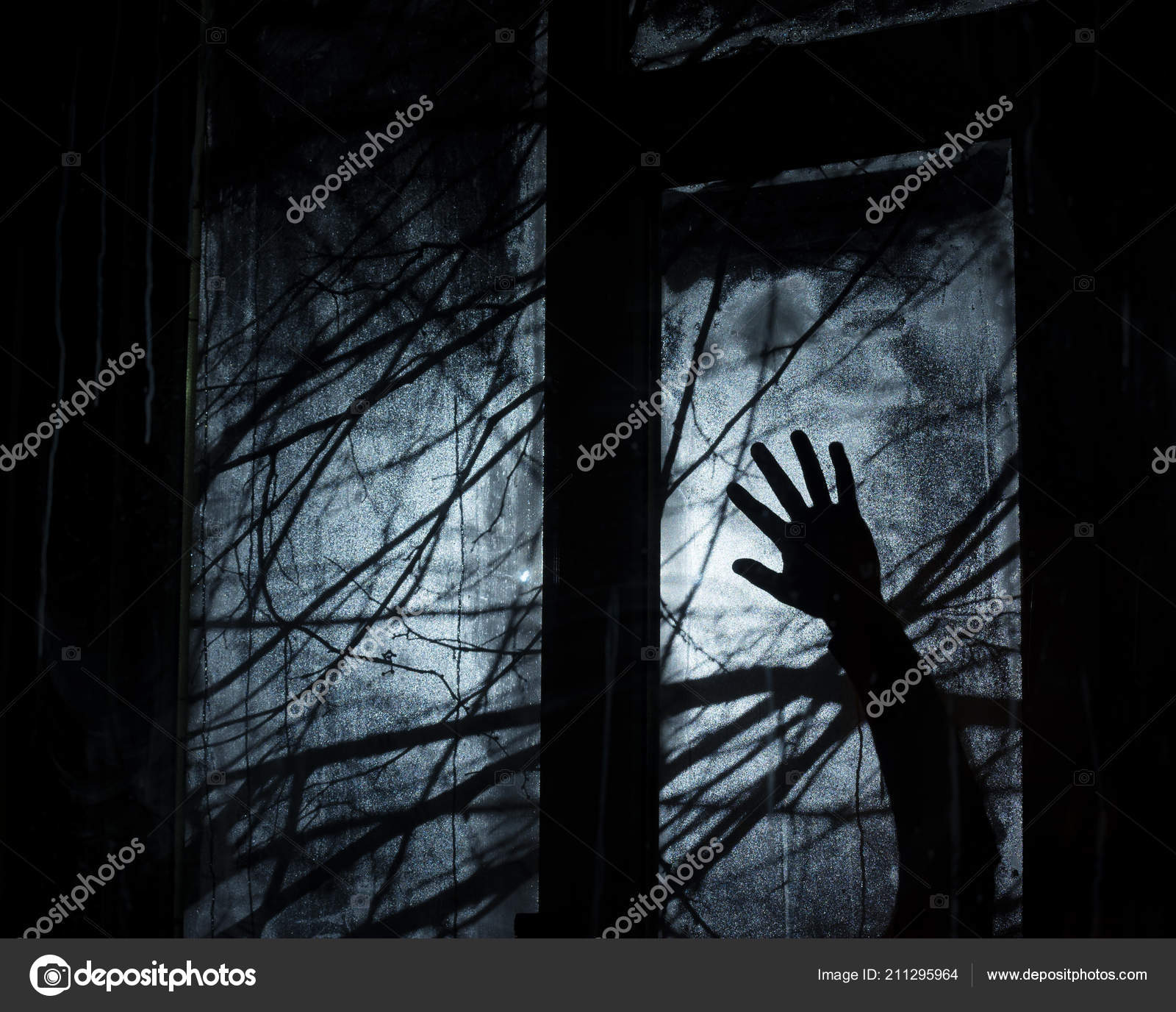 background halloween party design silhouetted tree branches dark
